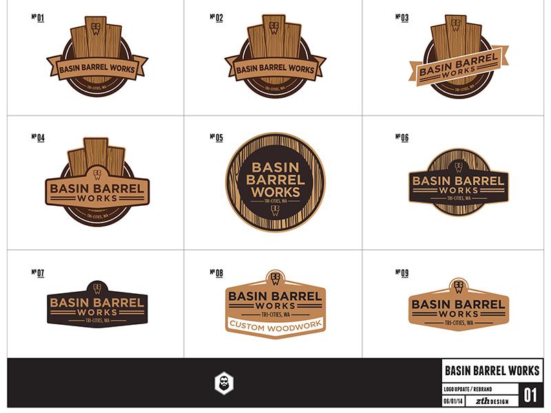 Basin Barrel Works Logos By Zach Hallum Dribbble Dribbble