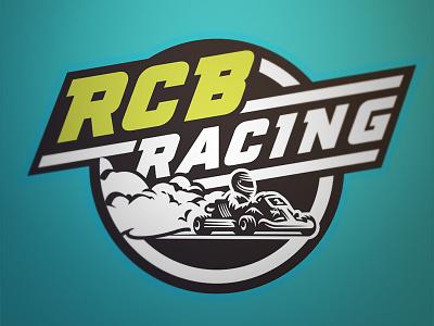 RCB Racing smaoke kart vector logo racing type