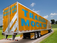 Freight Trailer Mock Up