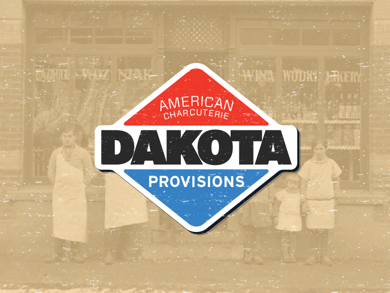 Dakota Provisions Badge badge design typography logo