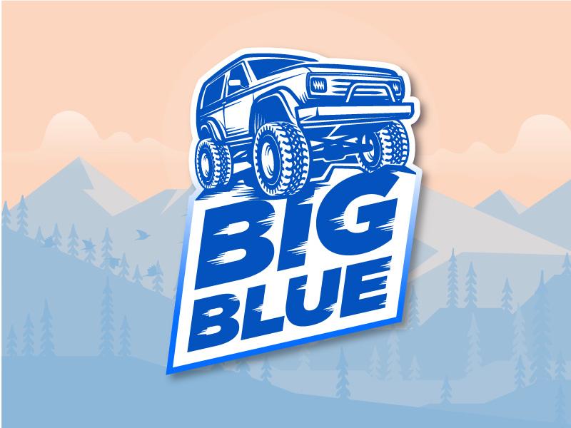 Big Blue Badge typography type logo vector badge