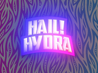 Hail Hydra Outrun badge typography type logo vector