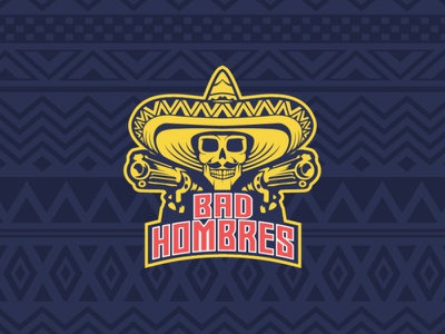 Bad Hombres illustration branding badge typography type logo vector