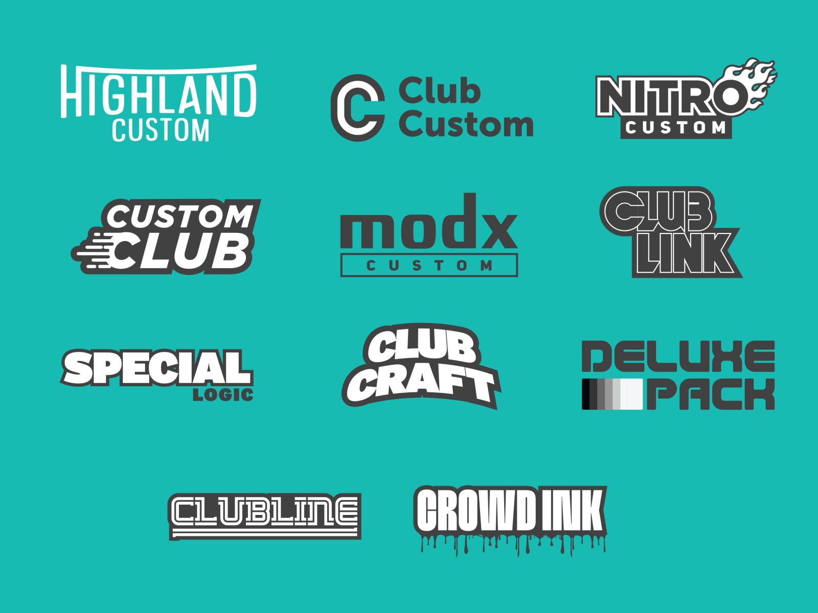 Custom Logo Ideas By Zach Hallum On Dribbble