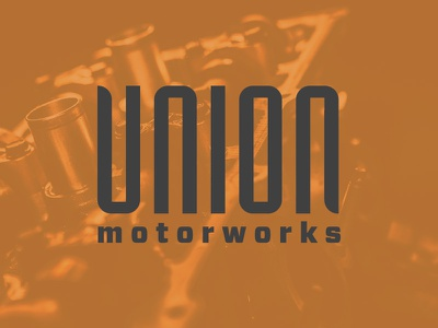 Union Motorworks Logo illustration type logo typography