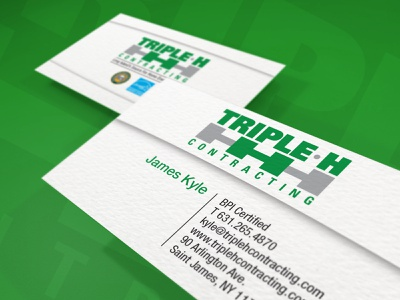 Triple H - Business Cards type business card design