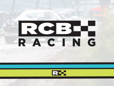 RCB Racing design illustration type logo