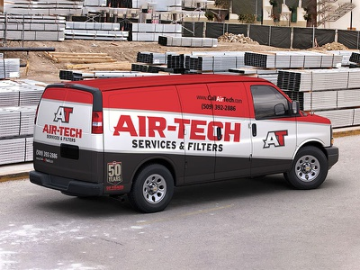 Air-Tech Rebrand color logos typography design logo brand identity brand design branding