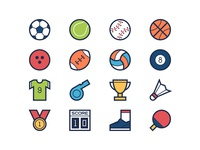 Sport Filled Line Icons