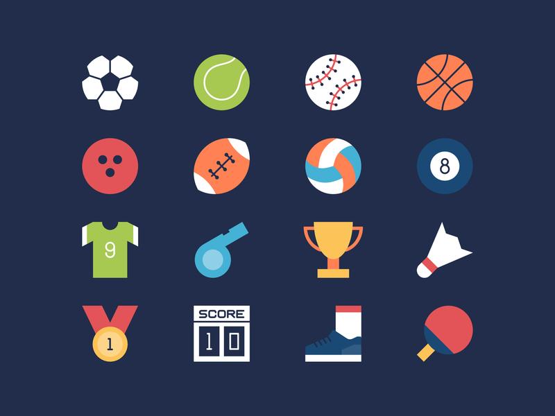 Sport Flat Icons user interface ui icon flat sport