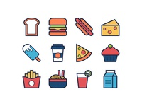 Food & Drink Filled Line Icons