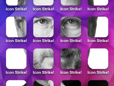 Steve Jobs Home Screen Mosaic mosaic home screen steve jobs icon strike