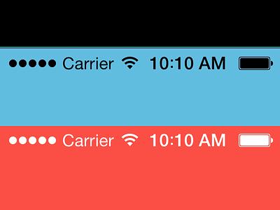 Free iOS 7 status bars .sketch file. status bars ios 7 sketch