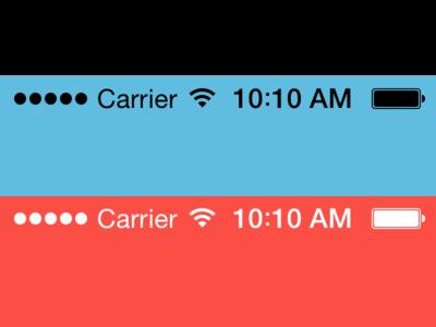 Free iOS 7 status bars .sketch file.