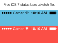 Free iOS 7 status bars .sketch file.