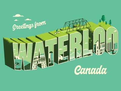 Greetings From Waterloo canada waterloo postcard