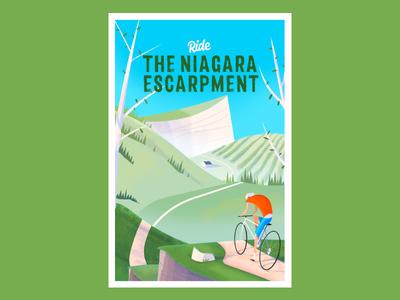 Ride The Escarpment biking niagara poster