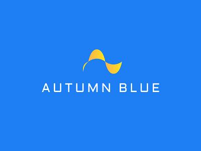 Autumn Blue Logo identity brand logo startup
