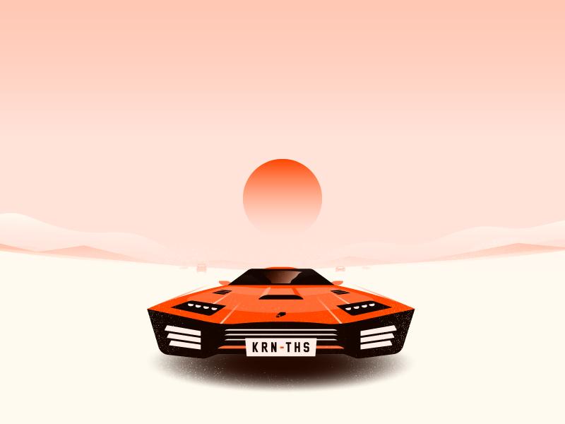 Rebels this kern canada waterloo illustration sunset desert flying car future rebel