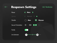 Respawn Settings
