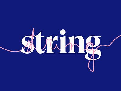 The String identity design idenity logos branding brand identity brand design brand