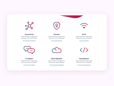 IT Services Page website web design ui product landing interface homepage