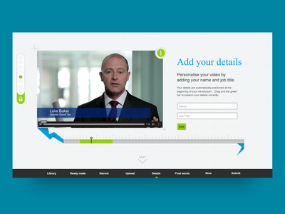 Personalised video delivery system ui design website design ui icons web app design web app