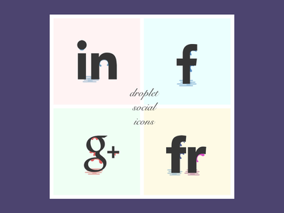 Droplets Social Icons droplets icons social