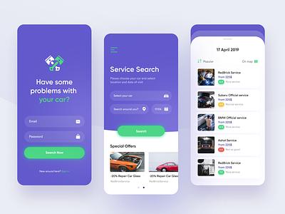 Car Repair Service App branding uiux design mobile app mobile mobile ui app