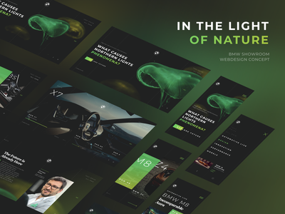 BMW In the Light of Nature mobile design mobile desktop desktop design figma ui templatedesign template