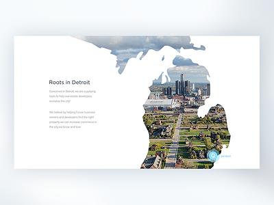 LandQ desktop design content ui ux web website about us