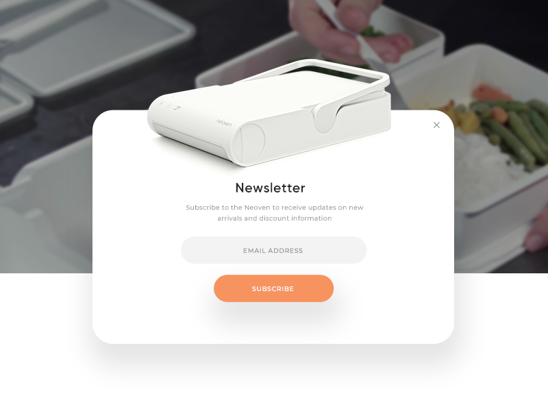 Neoven desktop oven ux ui webdesign neoven newsletter email subscribe