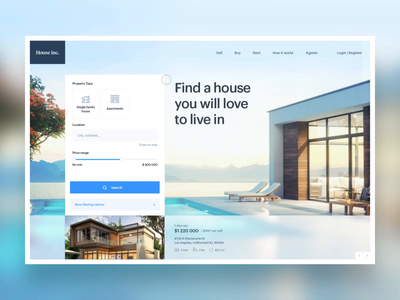 Real Estate page exploration