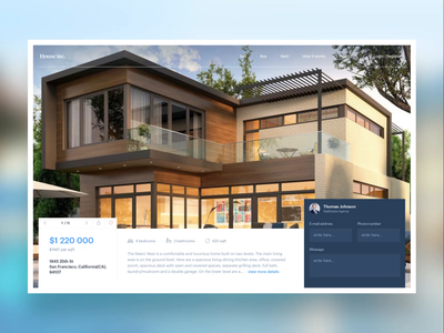 Real Estate page exploration - House presentation