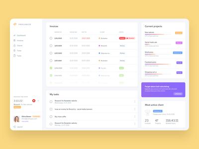 App for freelancers - Dashbaord