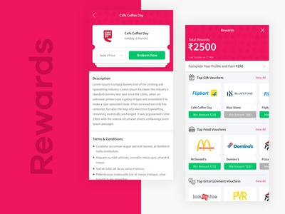 Rewards Design     PWA