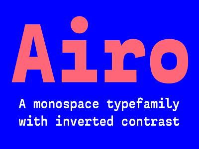 Airo Typefamily design typography typefamily typeface type design type
