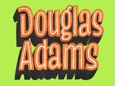 Douglas Adams illustration goodtype douglas adams photoshop drawing handlettering lettering