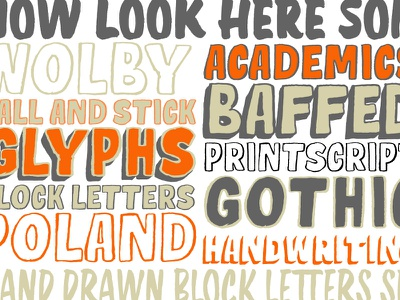 Wolby fun typeface hand drawn vector design font lettering typography type type design