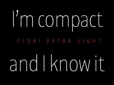 Floki graphic design compact condensed typeface typography sans serif release font type type design