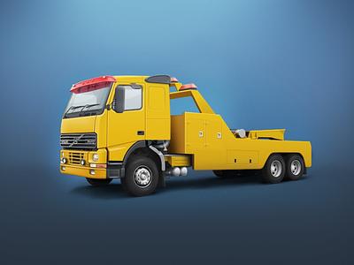 Volvo FH12 car evacuator truck volvo wheel