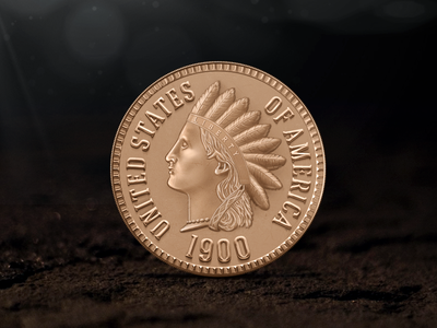 Coin coin ground indian 1900 old usa