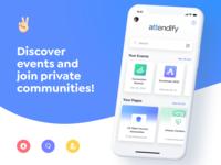 Attendify App Landing Page
