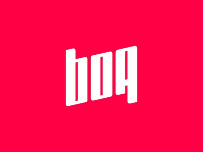 "Typographic exploration for ""Boa"""