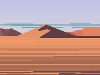 Distant sand sea