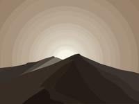 Distant sand sea(ore sand)