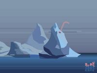 Iceberg and straw