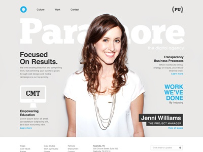 Paramore Digital redesign website company nashville paramore digital brand office editorial design