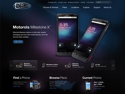 IV Cellular site design comp redesign ivcellular phones client