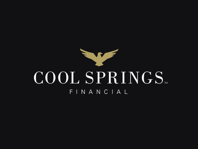 Cool Springs Financial icon eagle design financial cool springs logo identity